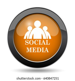 Social media icon. Social media website button on white background.