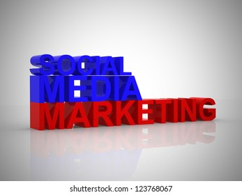 Social media marketing illustration - 3d render
