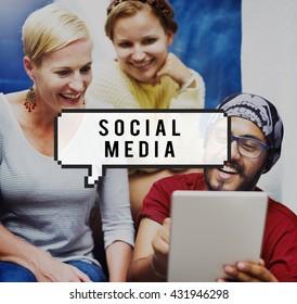 Social Media Network Socialize Communication Concept