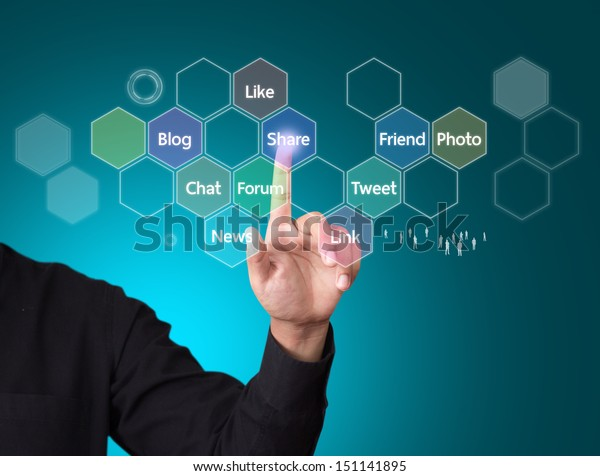 Social media and networking concept