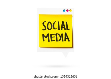Social media notificacion represented with paper digital display isolated on white background