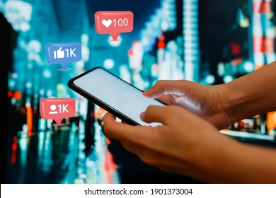 Social media,social network concept with smart phone
