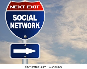 Social network road sign