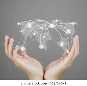 social network structure in a hand