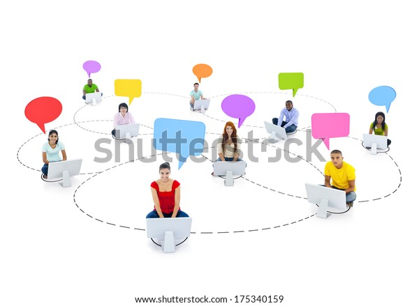 Social Networking Theme with Young People on Computers