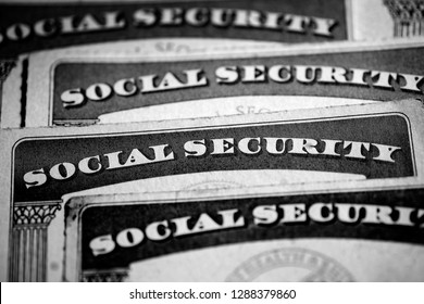 Social Security Cards Symbolizing Benefits for Elderly United Stated