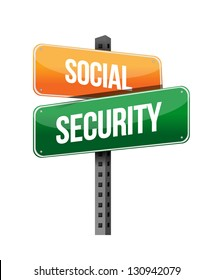 social security illustration design over a white background