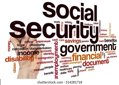 Social security word cloud concept