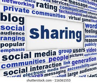 Social sharing message background. Social media poster design
