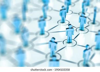 Social Web Network Background Image