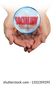 Socialism in your hand on the crystal ball with room for your type.