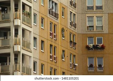 Socialist style building in Dresden