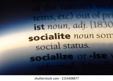 socialite word in a dictionary. socialite concept.