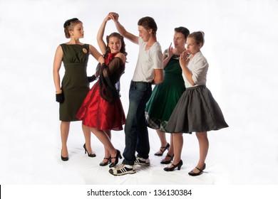 Sock Hop Dance With Gossiping Watchers