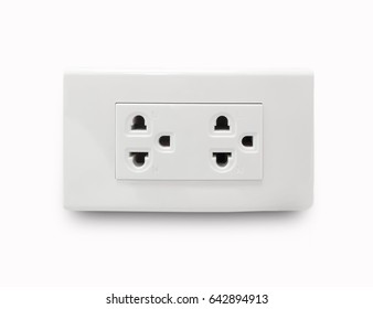 socket electricity for peripheral devices , On white background