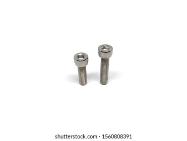 Socket head Hex cap screw isolated on white background