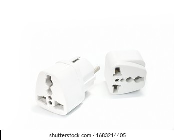 socket plug adapters isolated on white background with copy space. extension plug.