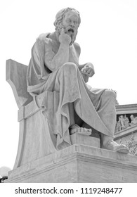 Socrates the ancient greek philosopher in deep thoughts