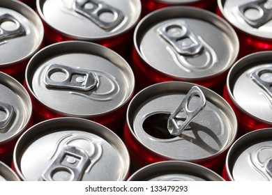 Soda cans with selective DOF