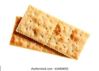 soda cracker in white background