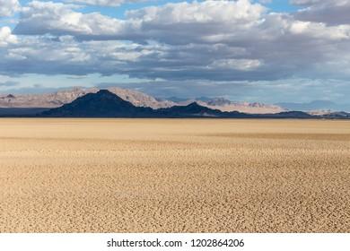 Soda dry lake at the Mojave National Preserve near Baker, California.