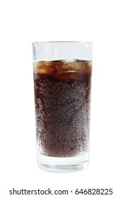 Soda in a glass isolated on a white background
