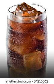 Soda with ice.