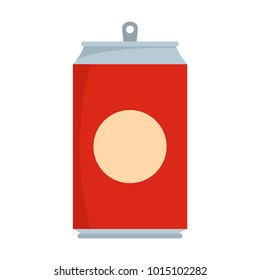 Soda icon. Flat illustration of soda  icon isolated on white background