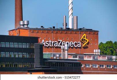 Sodertalje, Sweden - July 30, 2012: Exterior of the AstraZeneca's manufacturing facility at Snackviken.
