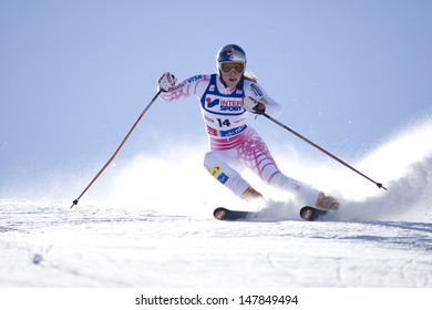 SOELDEN AUSTRIA OCT 25, Lindsey Vonn USA  competing in the womens giant slalom race at the Rettenbach Glacier Soelden Austria, the opening race of the 2008/09 Audi FIS Alpine Ski World Cup