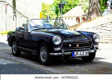 Soest, Germany - July 22, 2019: MG Midget is a small two-seater sports car produced by MG from 1961 to 1979.