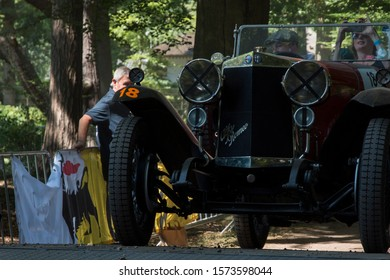 Soestdijk, The Netherlands - AUG 24, 2019: a n old classic car during a competition at Concours d'Elegance Paleis Soestdijk.