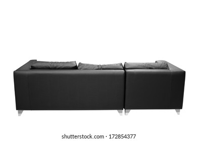 Sofa against white background.