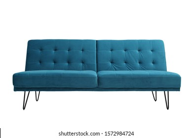 sofa bed with isolated white background