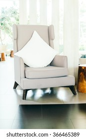 Sofa and chair decoration in living room interior - Filter effect