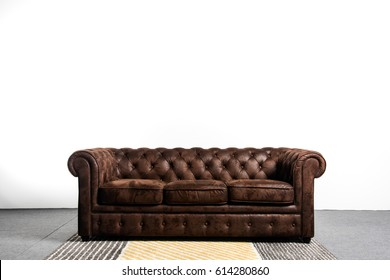 Sofa chester in an interior isolated white background