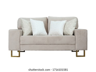 sofa cushion 2 seater with isolated white background