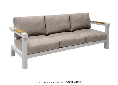 sofa with cushions. furniture on a white background