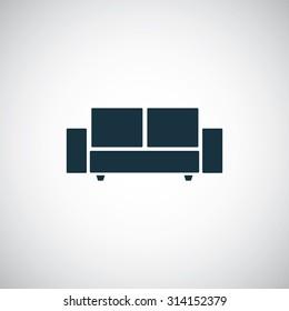 sofa icon, on white background