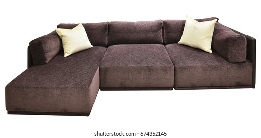 Sofa is isolated on white background