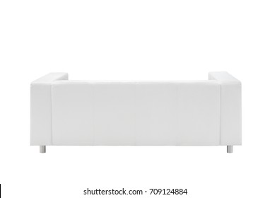 sofa isolated on white background, view from the back