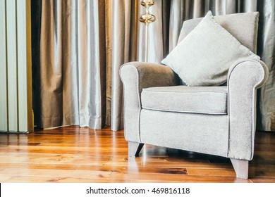 Sofa and light lamp decoration in living room interior