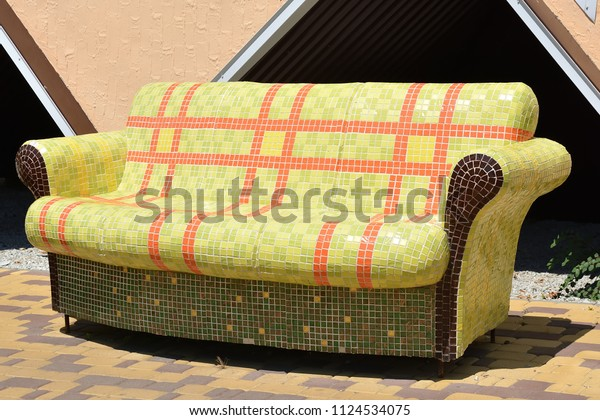 Wondrous Sofa Made Tile Russia Krasnodar Region Stock Photo Edit Now Short Links Chair Design For Home Short Linksinfo