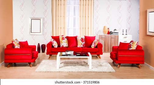 Red Sofa Set Images, Stock Photos & Vectors | Shutterstock