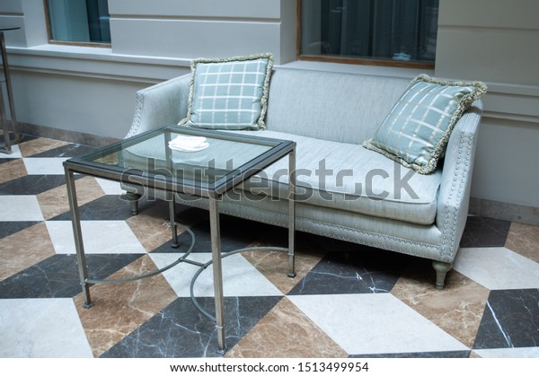 Phenomenal Sofa Two Chairs Table Modern Room Stock Photo Edit Now Short Links Chair Design For Home Short Linksinfo