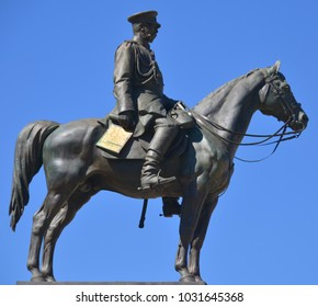 SOFIA BULGARIA 09/28/13:Monument to the Tsar Liberator is an equestrian monument erected in honour of Russian Emperor Alexander II who liberated Bulgaria from Ottoman rule during the Russo-Turkish War
