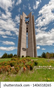 "Sofia, Bulgaria. 22 April 2012. The Bells monument, built in 1979 to celebrate the World Children initiative by UNESCO. The seven bells symbolize the seven continents.Slogan-""Unity, Creativity,Beauty"""
