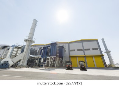 Sofia, Bulgaria - 22 September 2015: Waste-to-energy or energy-from-waste is the process of generating energy in the form of electricity or heat from the primary treatment of waste. Outside.