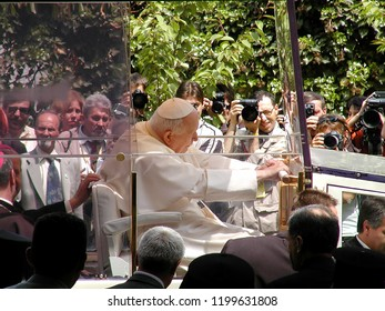 SOFIA, BULGARIA - 24 MAY 2002: Pope John Paul II greets the pilgrims in Sofia, Bulgaria, 24 May, 2002. Pope John II is in his first four-day official visit in Balkan country.