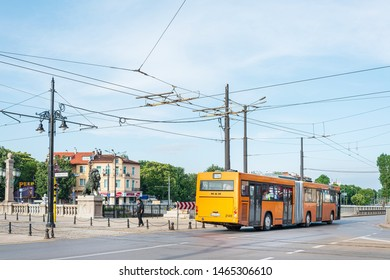 SOFIA, BULGARIA - 24 May 2018: Tramway in Sofia, Bulgaria